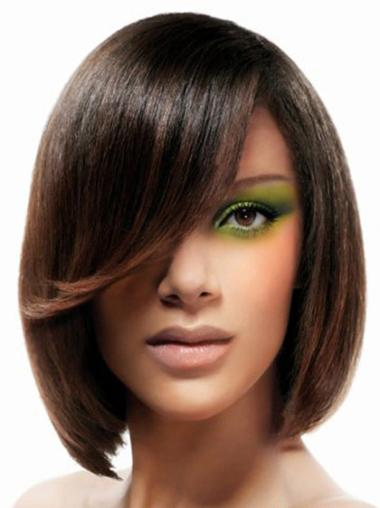 Lace Front Medium Brown Ideal Wigs