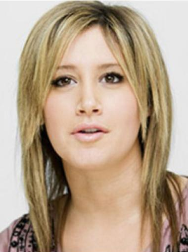Celebrity Blonde Capless Straight Hairstyle Wigs
