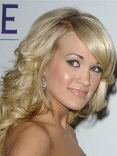 Celebrity Blonde Medium Wavy Hairstyle Wigs