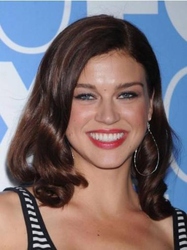 Celebrity Auburn Full Lace Wavy Wigs Hairstyle