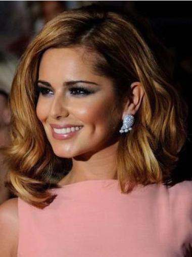 Cheryl Cole Shoulder Length Human Hair Waves Wig