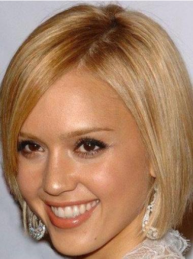 Jessica Alba Short Full Lace Wigs