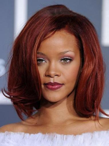 Rihanna Red Lace Front Wigs