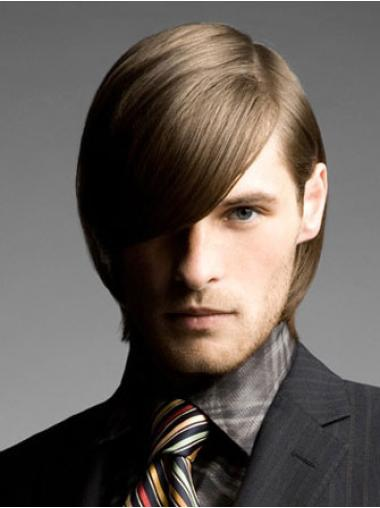 Remy Human Hair Straight Lace Front Blonde Men Wigs