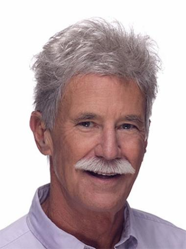 Straight Monofilament Grey Affordable Men Toupees