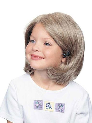 Medium Full Lace Straight Synthetic Girl Wigs