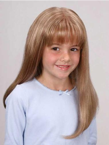 Long Lace Front Straight Synthetic Kids Wigs