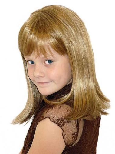 Medium Full Lace Blonde Synthetic Kids Wigs