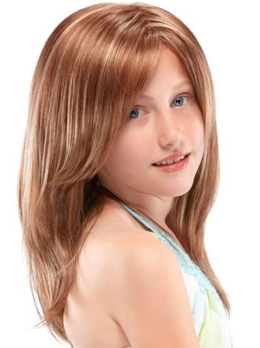 Long Full Lace Brown Synthetic Girl Wigs