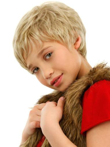 Short Lace Front Blonde Synthetic Boy Wigs