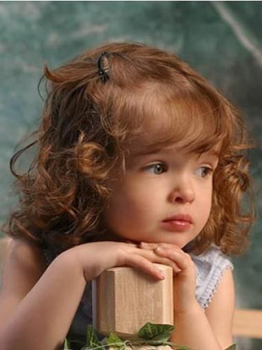 Medium Lace Front Auburn Remy Human Hair Girl Wigs
