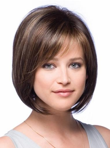 Short Straight Lace Front Brown Beautiful Bob Wigs