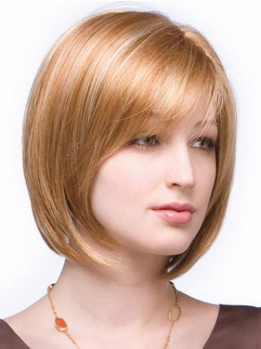 Short Straight Lace Front Auburn Great Bob Wigs