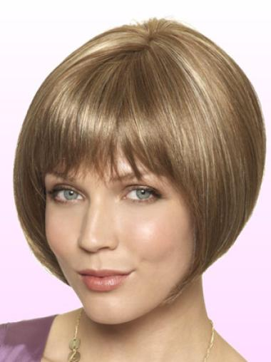 Short Straight Lace Front Brown Comfortable Bob Wigs