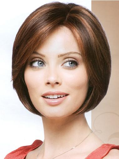 Short Straight Capless Brown Designed Bob Wigs