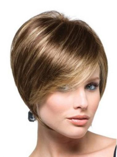 Short Straight Capless Brown Suitable Bob Wigs