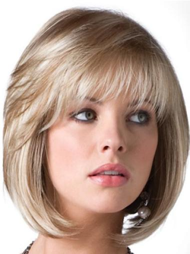Short Straight Capless Blonde Good Bob Wigs
