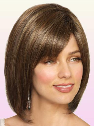 Short Straight Lace Front Brown Style Bob Wigs