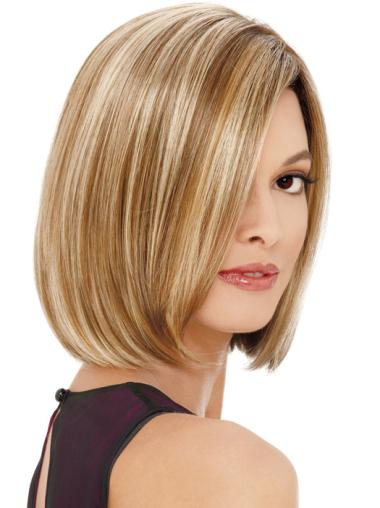 Synthetic Blonde Lace Front Bob Online Wigs