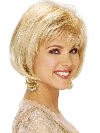 Synthetic Blonde Capless Bob Hairstyles Wigs