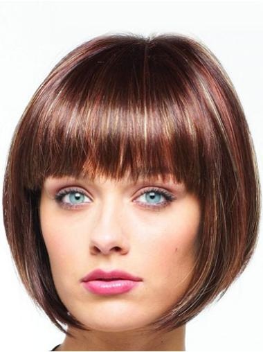 Synthetic Auburn Lace Front Bob Affordable Wigs