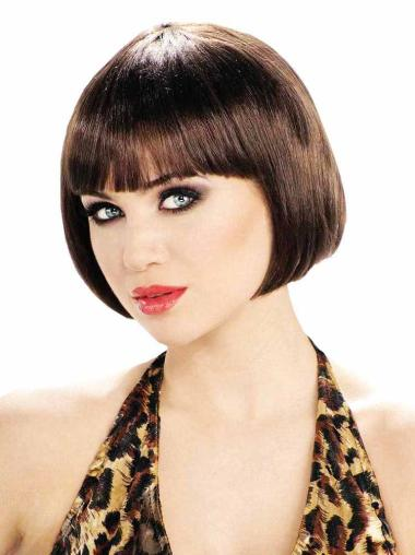 Synthetic Brown Capless Bob Durable Wigs