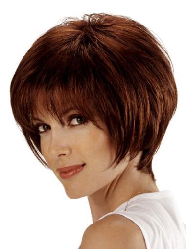 Remy Human Hair Auburn Lace Front Bob Flexibility Wigs