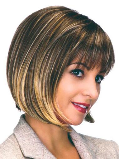 Synthetic Brown Capless Bob Convenient Wigs