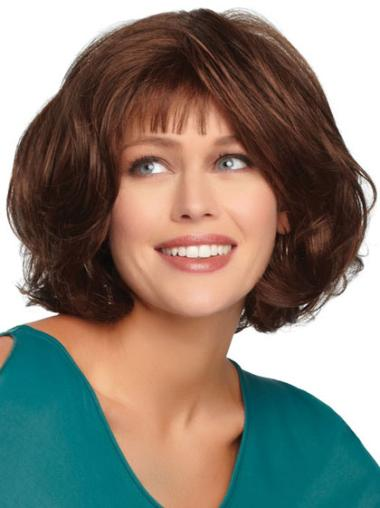 Synthetic Auburn Monofilament Bob Soft Wigs