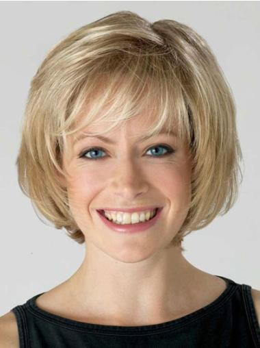 Synthetic Blonde Lace Front Bob Durable Wigs