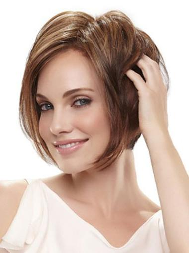 Synthetic Brown Capless Bob Great Wigs