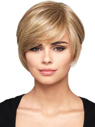 Synthetic Blonde Capless Bob Convenient Wigs