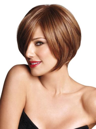 Synthetic Brown Capless Bob Cheapestest Wigs