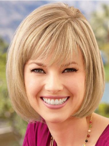 Synthetic Blonde Lace Front Bob Style Wigs