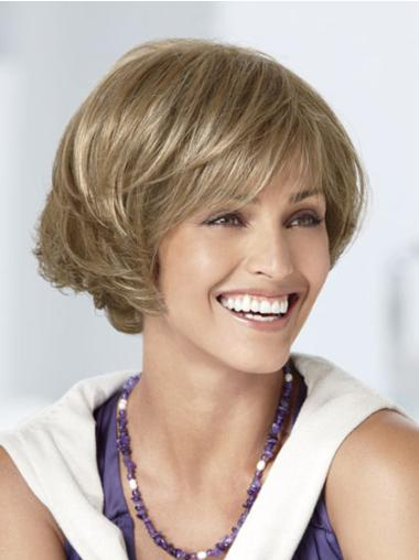 Blonde Capless Curly Short Hairstyles Bob Wigs