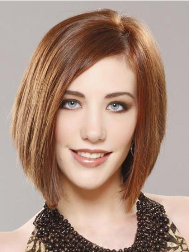 Auburn Lace Front Straight Medium Wonderful Bob Wigs