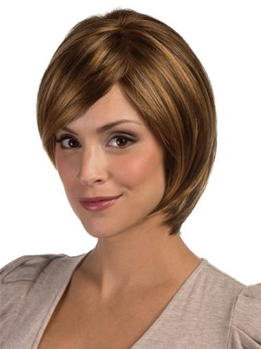 Blonde Lace Front Straight Medium Affordable Bob Wigs