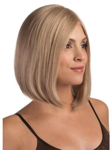 Blonde Lace Front Straight Medium Sassy Bob Wigs