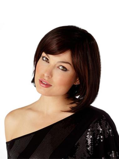 Auburn Capless Straight Medium Affordable Bob Wigs
