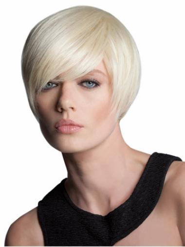 Blonde Capless Straight Short Flexibility Bob Wigs