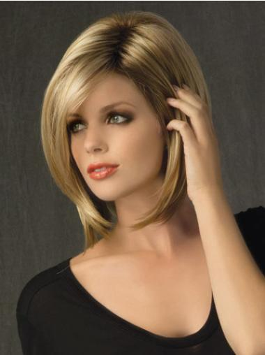 Blonde Lace Front Straight Medium Durable Bob Wigs
