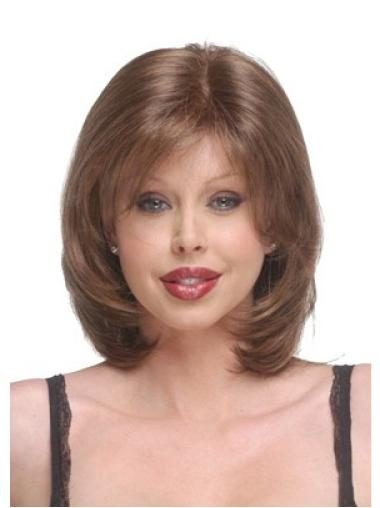 Blonde Capless Straight Medium No-fuss Bob Wigs