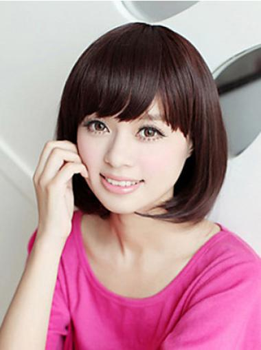 Bob Synthetic Convenient Brown Short Wigs