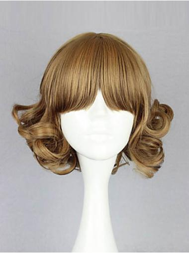 Bob Synthetic Discount Blonde Medium Wigs