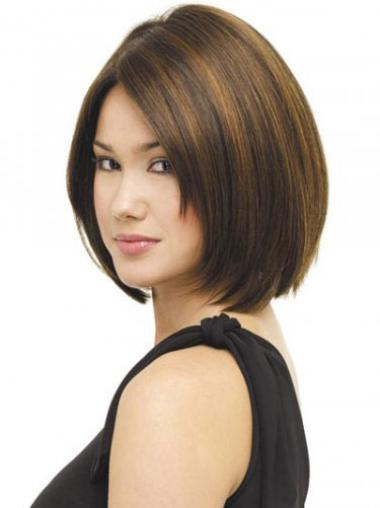 Bob Synthetic Popular Brown Short Wigs