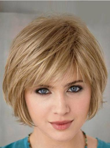 Bob Synthetic Flexibility Blonde Short Wigs
