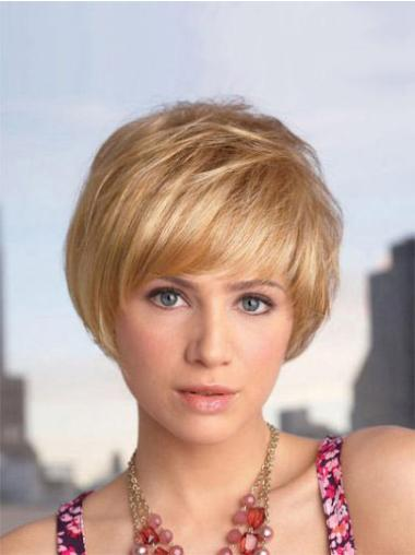 Bob Synthetic Cheapestest Blonde Short Wigs