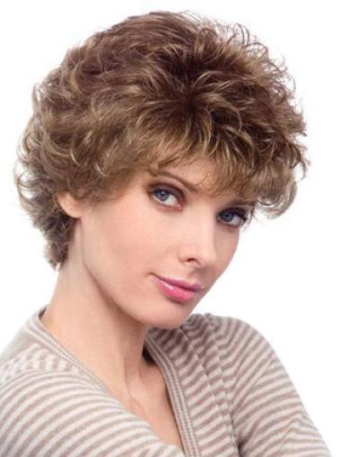 High Quality Capless Blonde Curly Synthetic Short Wigs