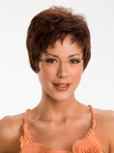 Suitable Quality Capless Auburn Straight Synthetic Short Wigs