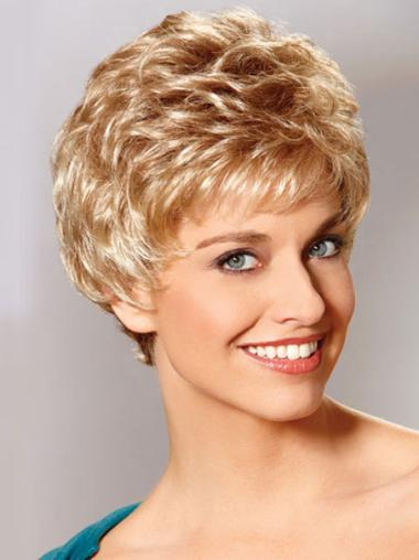 Auburn New Fashion Monofilament Wavy Synthetic Short Wigs